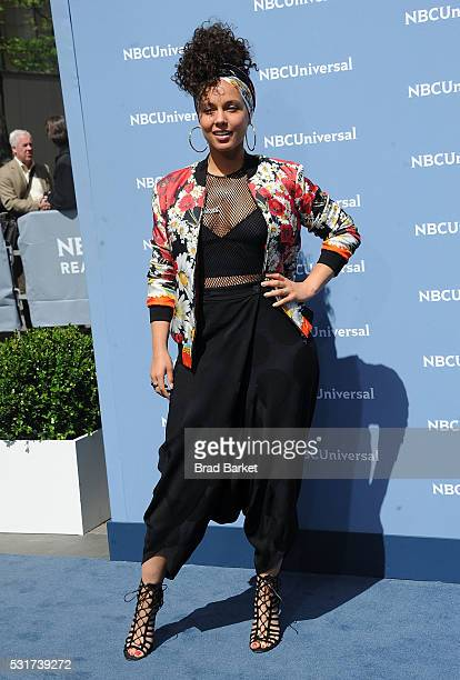Signer Alicia Keys attends the NBCUniversal 2016 Upfront Presentation on May 16 2016 in New York City