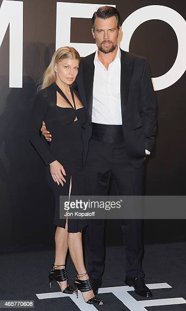 Signer Fergie and actor Josh Duhamel arrive at Tom Ford Autumn/Winter 2015 Womenswear Collection Presentation at Milk Studios on February 20 2015 in...