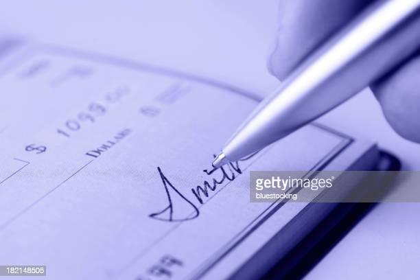 Signer un chèque