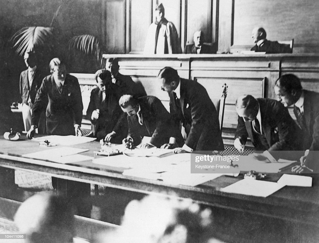 Signing of the Treaty of Lausanne on July 24 1923 The treaty is ratified by representatives of each country present in the conflict GreatBritain...