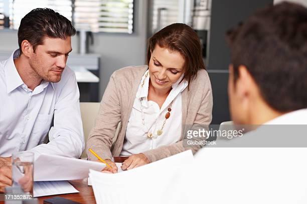 Unterschreiben, Mietvertrag