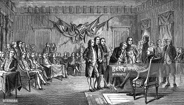 Unterzeichnung der Unabhängigkeitserklärung in Philadelphia