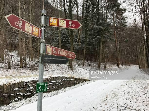 Signpost in Liechtenstein
