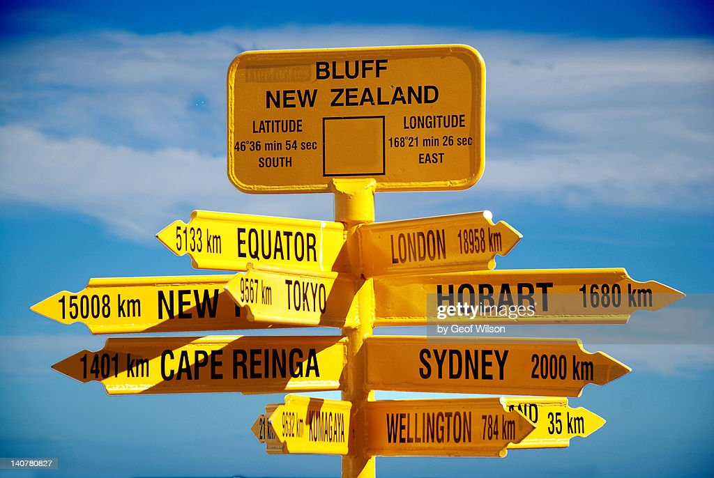 Signpost need of direction against sky : Stock Photo