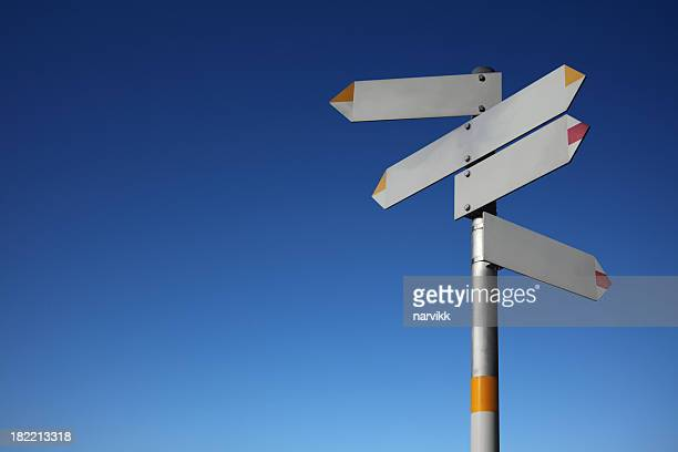 Signpost with Five Directions