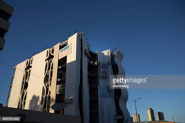 Signs advertising medical offices for lease are displayed at a office complex in Tijuana Mexico on Friday Oct 21 2016 Data from a US government...
