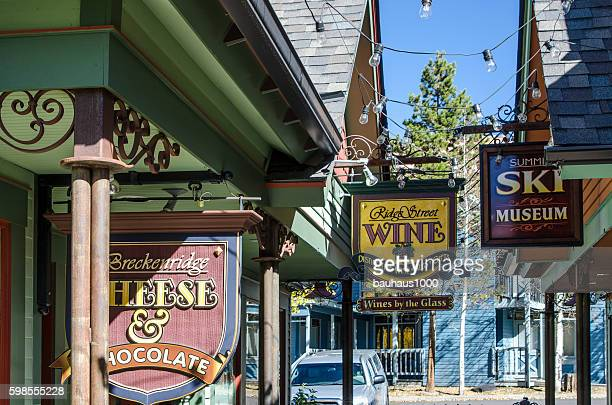 Signs and Shops on Main Street, Breckenridge, Colorado