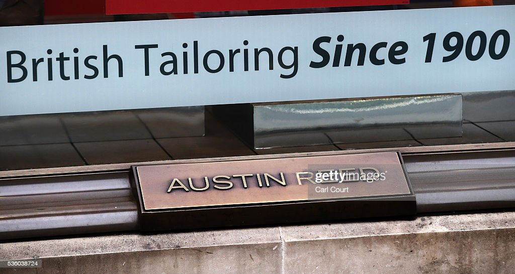 Signs are displayed at an Austin Reed store on May 31, 2016 in London, England. After going into administration last month and failing to find a buyer, the company today announced that all 120 Austin Reed stores will close by the end of June with a loss 1,000 jobs.