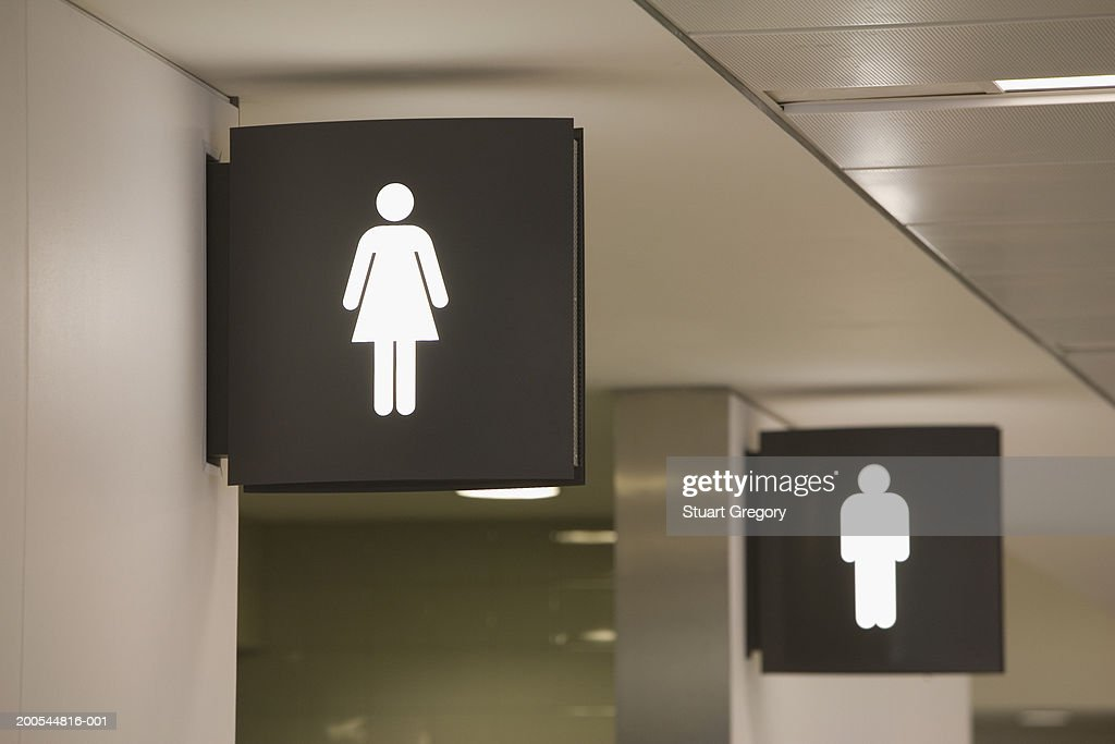 Signs for men's and women's toilets