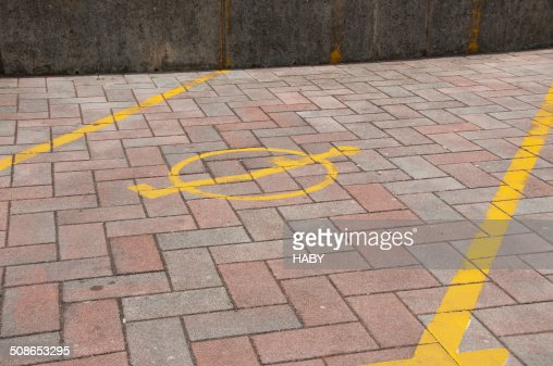 Signs for parking spot : Stock Photo
