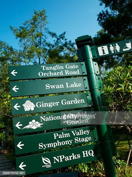 Signs in Singapore Botanic Gardens, Singapore