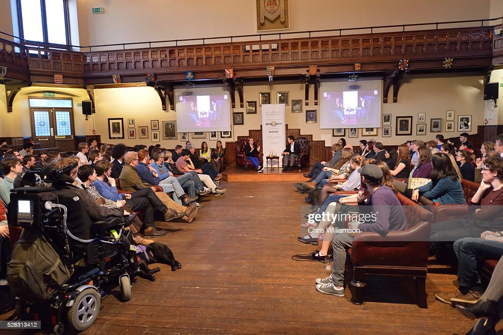 Sigourney Weaver addresses The Cambridge Union on May 4, 2016 in Cambridge, Cambridgeshire.