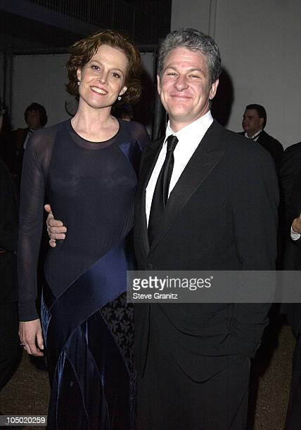 Sigourney Weaver and guest during The 60th Annual Golden Globe Awards Feature Focus Party at The Beverly Hilton Hotel in Beverly Hills California...