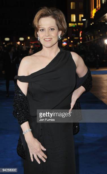 Sigourney Weaver arrives at the World Premiere of Avatar at Odeon Leicester Square on December 10 2009 in London England