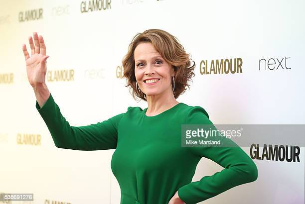 Sigourney Weaver arrives for the Glamour Women Of The Year Awards on June 7 2016 in London United Kingdom