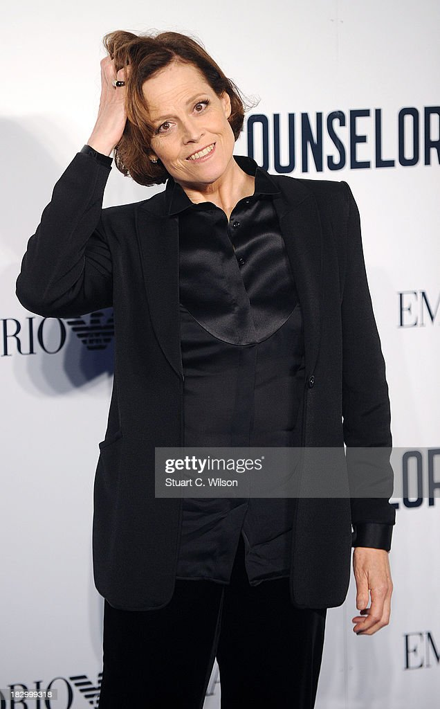 <a gi-track='captionPersonalityLinkClicked' href=/galleries/search?phrase=Sigourney+Weaver&family=editorial&specificpeople=201647 ng-click='$event.stopPropagation()'>Sigourney Weaver</a> attends a special screening of 'The Counselor' at Odeon West End on October 3, 2013 in London, England.