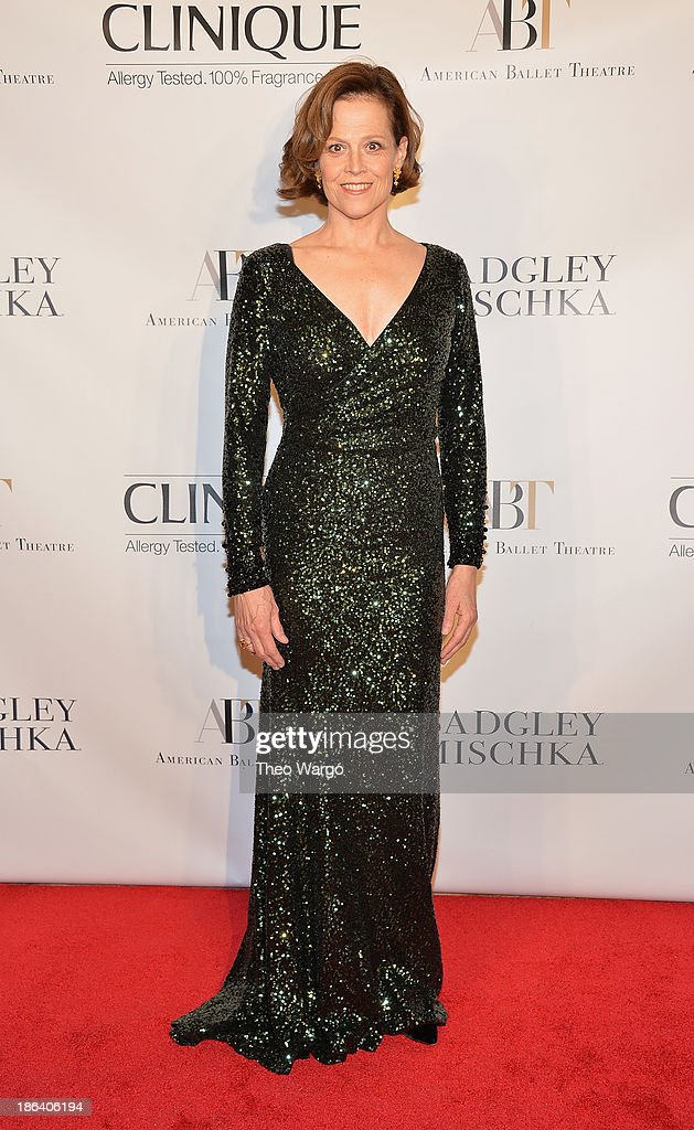<a gi-track='captionPersonalityLinkClicked' href=/galleries/search?phrase=Sigourney+Weaver&family=editorial&specificpeople=201647 ng-click='$event.stopPropagation()'>Sigourney Weaver</a> attends American Ballet Theatre 2013 Opening Night Fall gala at David Koch Theatre at Lincoln Center on October 30, 2013 in New York City.