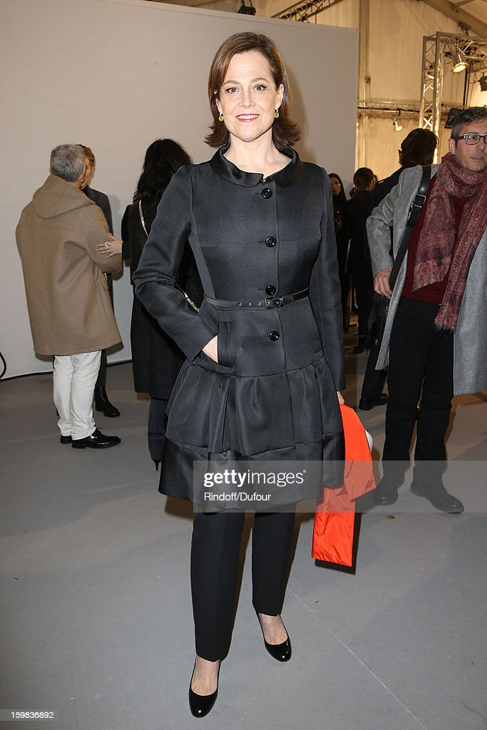 <a gi-track='captionPersonalityLinkClicked' href=/galleries/search?phrase=Sigourney+Weaver&family=editorial&specificpeople=201647 ng-click='$event.stopPropagation()'>Sigourney Weaver</a> attends in Backstage the Christian Dior Spring/Summer 2013 Haute-Couture show as part of Paris Fashion Week at on January 21, 2013 in Paris, France.