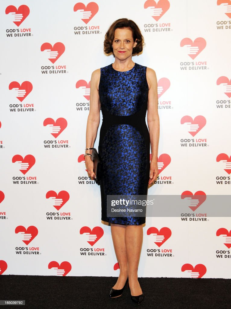 <a gi-track='captionPersonalityLinkClicked' href=/galleries/search?phrase=Sigourney+Weaver&family=editorial&specificpeople=201647 ng-click='$event.stopPropagation()'>Sigourney Weaver</a> attends the 2013 God's Love We Deliver 2013 Golden Heart Awards Celebration at Spring Studios on October 16, 2013 in New York City.