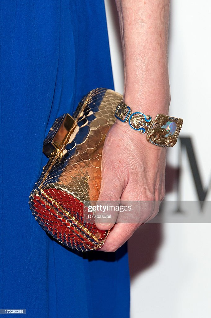 Sigourney Weaver (clutch/bracelet detail) attends the 67th Annual Tony Awards at Radio City Music Hall on June 9, 2013 in New York City.
