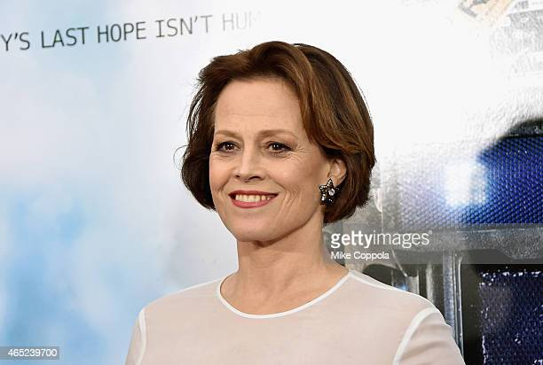 Sigourney Weaver attends the 'Chappie' New York Premiere at AMC Lincoln Square Theater on March 4 2015 in New York City