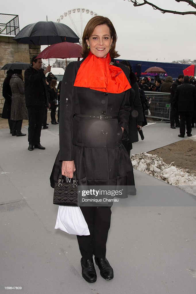<a gi-track='captionPersonalityLinkClicked' href=/galleries/search?phrase=Sigourney+Weaver&family=editorial&specificpeople=201647 ng-click='$event.stopPropagation()'>Sigourney Weaver</a> attends the Christian Dior Spring/Summer 2013 Haute-Couture show as part of Paris Fashion Week at on January 21, 2013 in Paris, France.