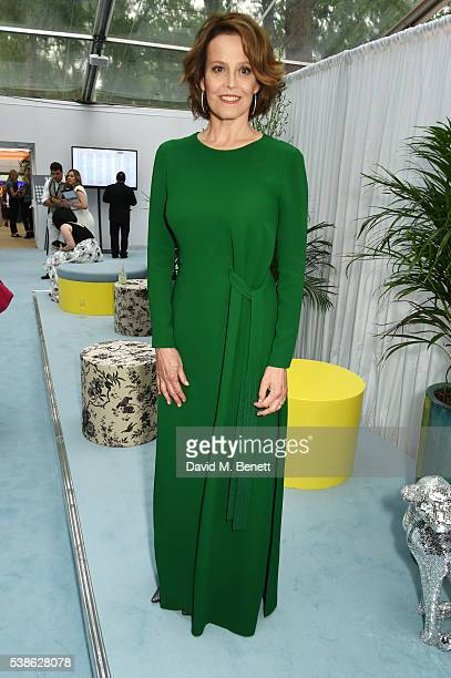 Sigourney Weaver attends the Glamour Women Of The Year Awards in Berkeley Square Gardens on June 7 2016 in London United Kingdom