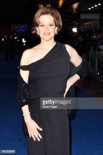 Sigourney Weaver attends the world premiere of Avatar held at The Empire Leicester Square on December 10 2009 in London England