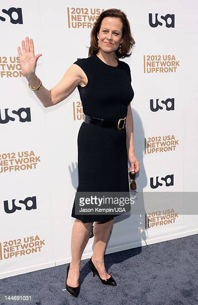 Sigourney Weaver attends USA Network Upfront 2012 arrivals at Alice Tully Hall at Lincoln Center on May 17 2012 in New York City