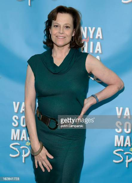 Sigourney Weaver attends 'Vanya And Sonia And Masha And Spike' Broadway Press Preview at The New 42nd Street Studios on February 28 2013 in New York...