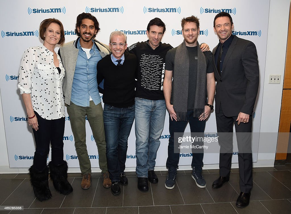 Sigourney Weaver Dev Patel Jess Cagle Sharlto Copley Neill Blomkamp and Hugh Jackman attend the SiriusXM's Entertainment Weekly Special on March 5...
