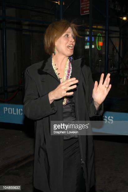 Sigourney Weaver during New York Premiere of The Guys After Party at Gabriels Restaurant in New York NY United States