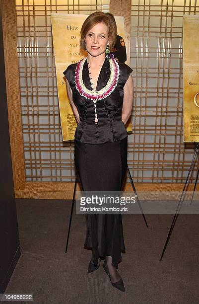 Sigourney Weaver during New York Premiere of 'The Guys' at Alice Tully Hall Lincoln Center in New York City New York United States
