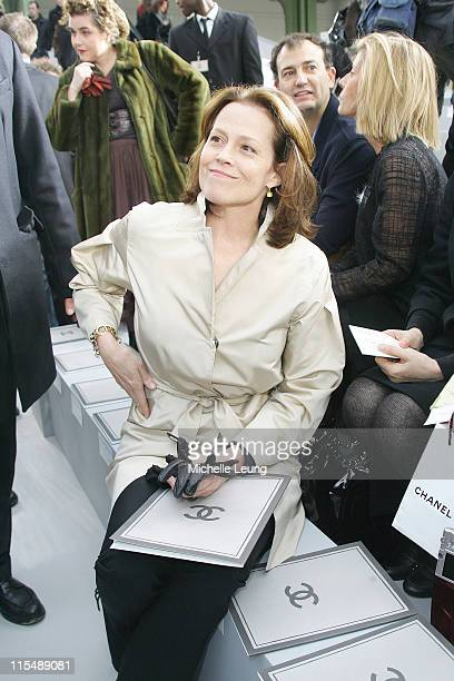 Sigourney Weaver during Paris Fashion Week Haute Couture Spring/Summer 2007 Chanel Front Row in Paris France