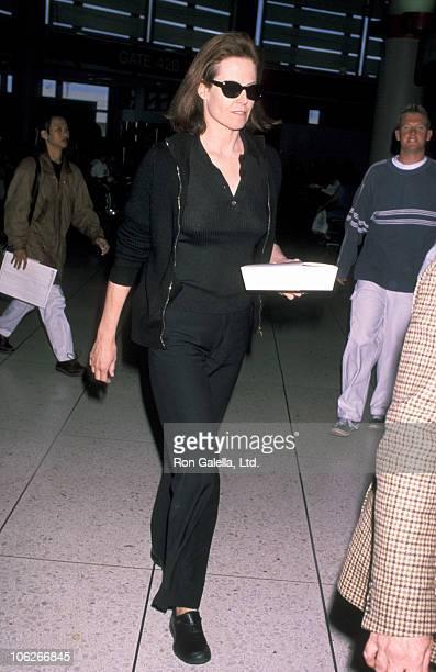 Sigourney Weaver during Sigourney Weaver Sighting at Los Angeles International Airport April 8 1999 at Los Angeles International Airport in Los...
