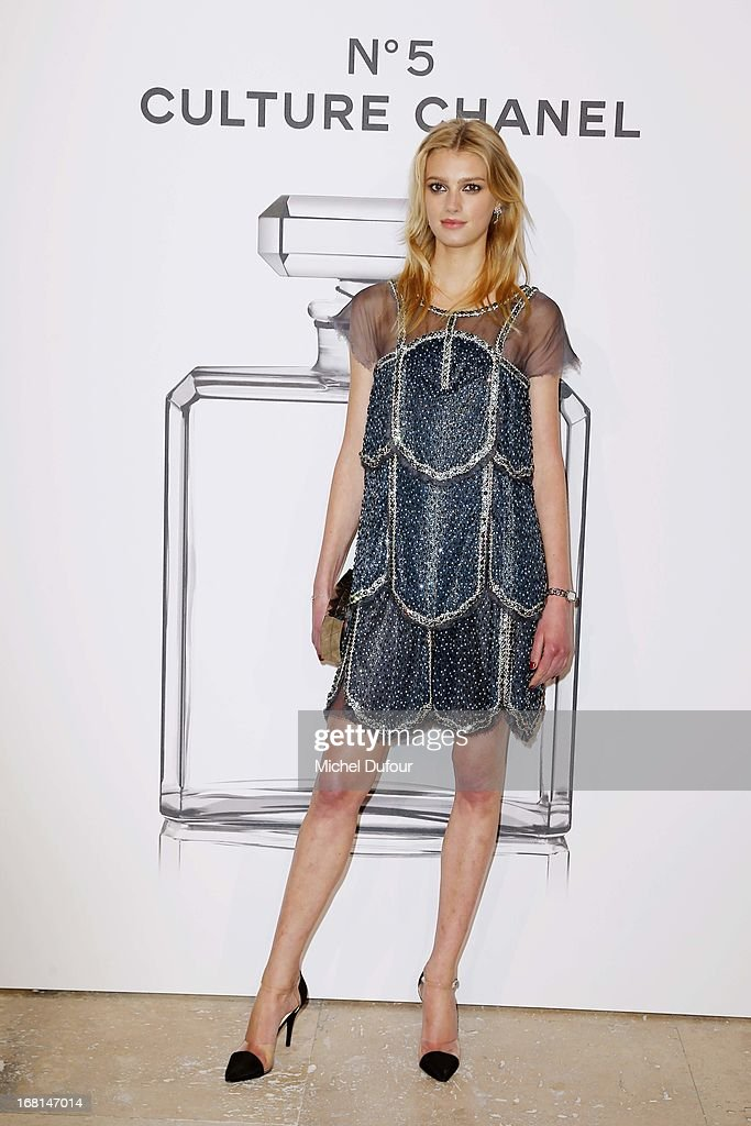Sigrid Agren attends the 'No5 Culture Chanel' Exhibition - Photocall at Palais De Tokyo on May 3, 2013 in Paris, France.