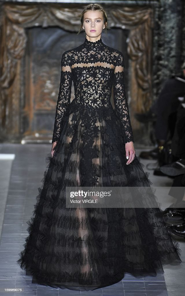 Sigrid Agren walks the runway during the Valentino Spring/Summer 2013 Haute-Couture show as part of Paris Fashion Week at Hotel Salomon de Rothschild on January 23, 2013 in Paris, France.