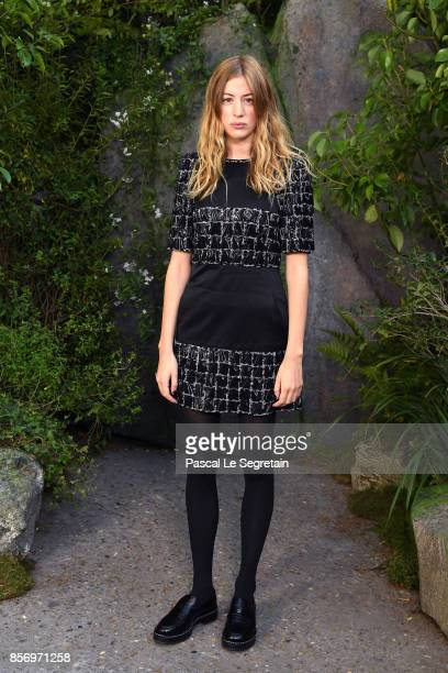 Sigrid Bouaziz attends the Chanel show as part of the Paris Fashion Week Womenswear Spring/Summer 2018 on October 3 2017 in Paris France