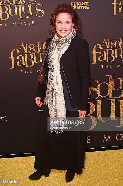 Sigrid Thornton arrives ahead of the Absolutely Fabulous The Movie Melbourne premiere at Village Cinemas Crown on August 2 2016 in Melbourne Australia