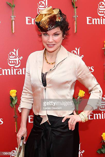 Sigrid Thornton attends the Emirates marquee during Emirates Melbourne Cup Day at Flemington Racecourse on November 2 2010 in during Emirates...