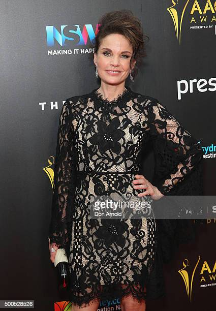 Sigrid Thornton poses on the red carpet for the 5th AACTA Awards at The Star on December 9 2015 in Sydney Australia