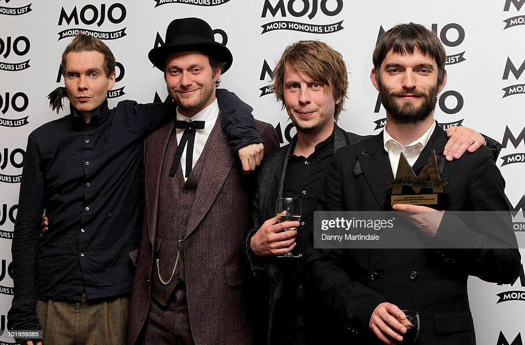 Sigur Ros with award at The Mojo Honours List at The Brewery on June 10, 2010 in London, England.