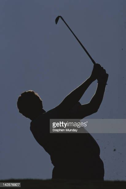 A sihouette of Colin Montgomerie of Great Britain during the Volvo Masters Golf Tournament on 7th November 1993 at the Valderrama Golf Club in...