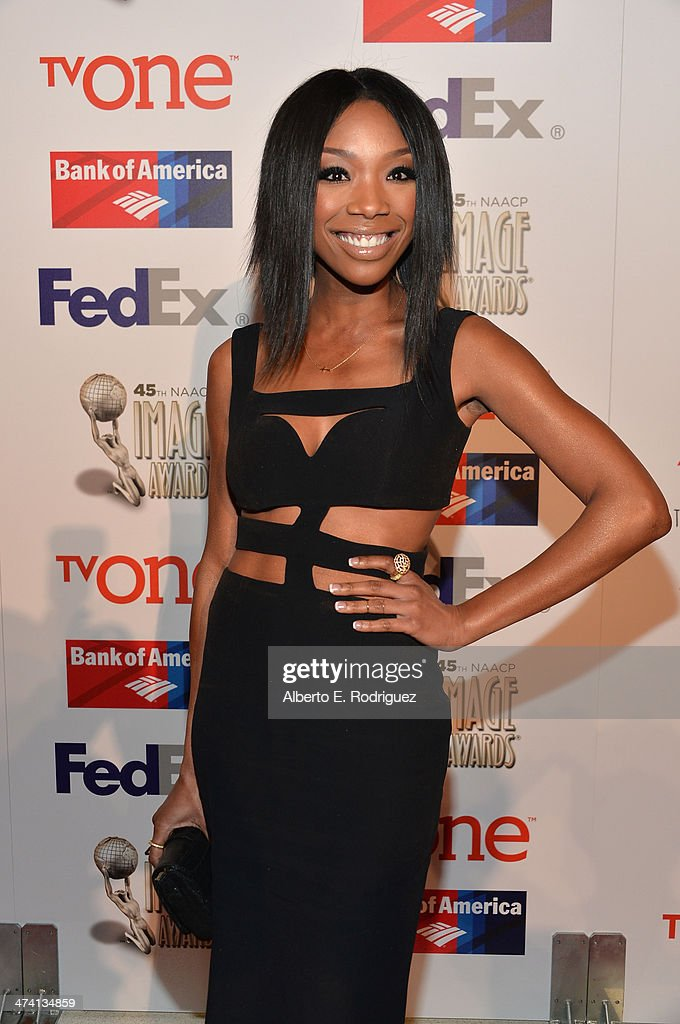 Siinger Brandy Norwood attends the 45th NAACP Awards Non-Televised Awards Ceremony at the Pasadena Civic Auditorium on February 21, 2014 in Pasadena, California.