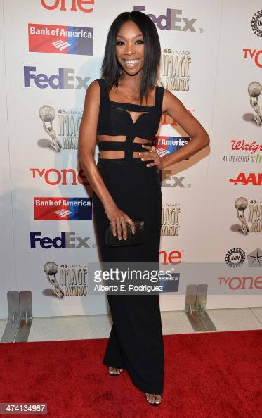 Siinger Brandy Norwood attends the 45th NAACP Awards NonTelevised Awards Ceremony at the Pasadena Civic Auditorium on February 21 2014 in Pasadena...