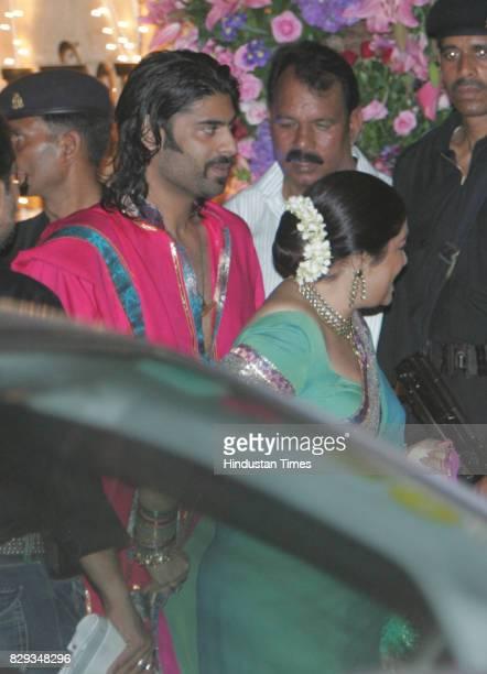 Sikander Kher and Kiron Kher at the wedding of Aishwarya and Abhishek Bachchan