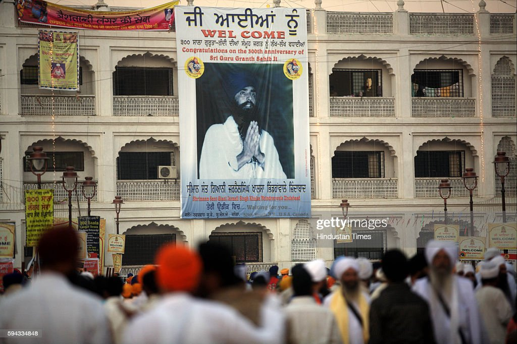 Sikh A banner hangs on the campus wall of Takht Sachkhand Shri Hazur Abchalnagar Sahib Gurdwara in Nanded calls on youth of US UK and Canada which...