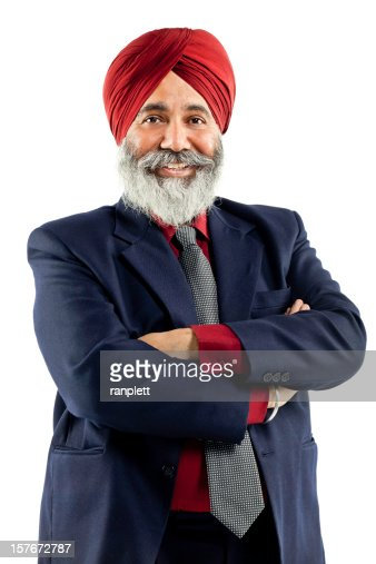 Sikh Businessman (Isolated on White)