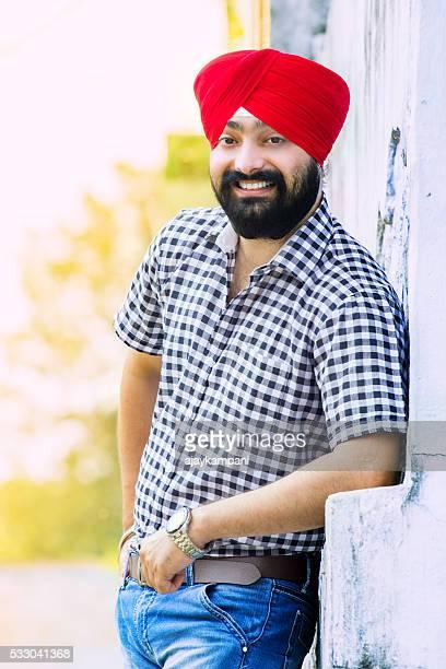 Sikh man smiling