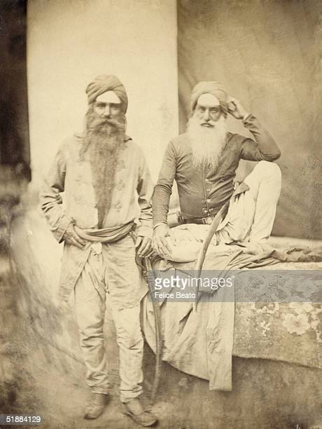 Sikh officers of Hodson's Horse pictured at the time of the Indian Mutiny 1857